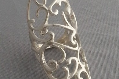 Ring silver clay