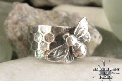 Michele-Solak—Silver-Bee-Honeycomb-ring1a72dpi